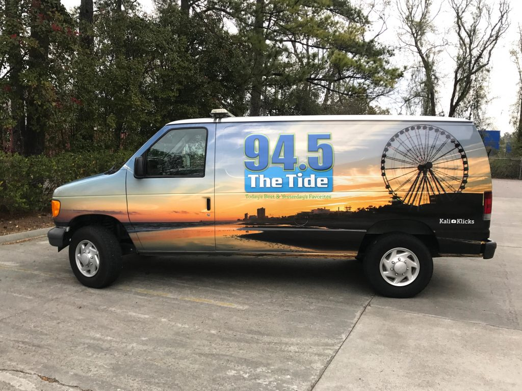 Van wrap of Myrtle Beach