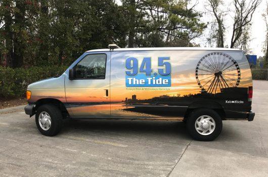 Van wrap of Myrtle Beach